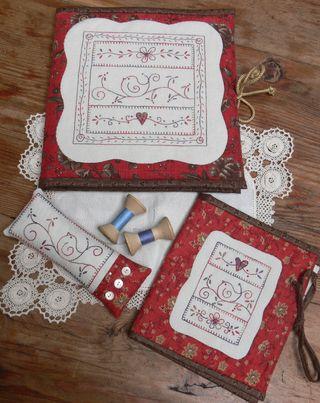 Little bird sewing set cover