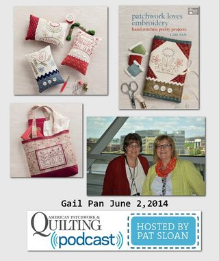 Pat Sloan American Patchwork and Quilting radio Gail Pan guest(1)
