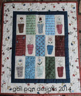 Bib mini quilt