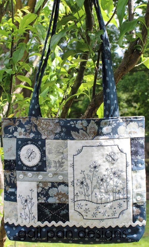 Blue butterfly bag