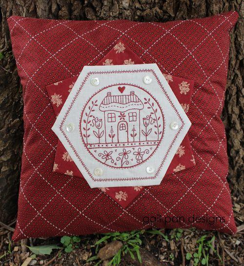Hexagon home cushion