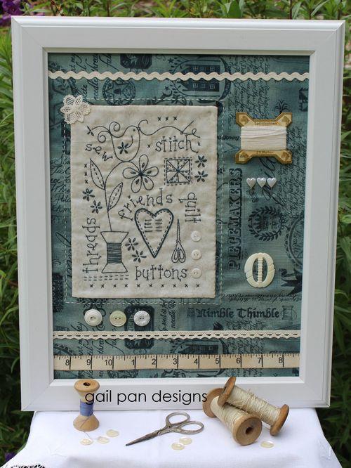 Vintage sewing collage
