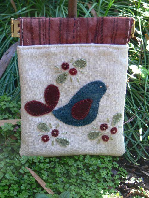 Bluebird spring purse
